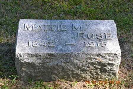 ROSE, MATTIE M. - Branch County, Michigan | MATTIE M. ROSE - Michigan Gravestone Photos