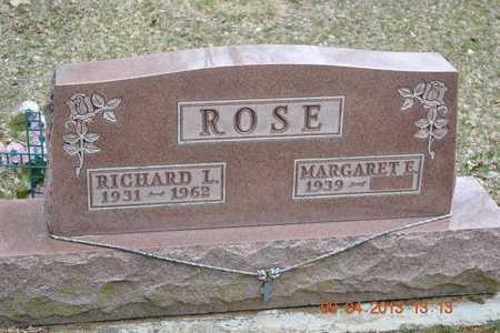 ROSE, RICHARD L. - Branch County, Michigan | RICHARD L. ROSE - Michigan Gravestone Photos