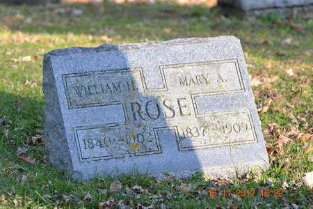 ROSE, MARY A. - Branch County, Michigan | MARY A. ROSE - Michigan Gravestone Photos
