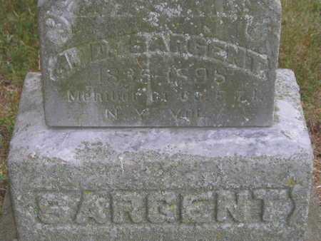 SARGENT, A.D. - Branch County, Michigan | A.D. SARGENT - Michigan Gravestone Photos