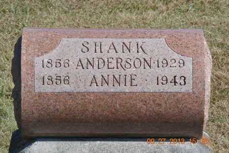 SHANK, ANDERSON/ANNIE - Branch County, Michigan   ANDERSON/ANNIE SHANK - Michigan Gravestone Photos
