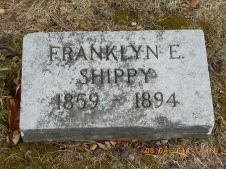 SHIPPY, FRANKLYN E. - Branch County, Michigan | FRANKLYN E. SHIPPY - Michigan Gravestone Photos