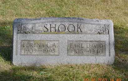 SHOOK, EARL DAVID - Branch County, Michigan | EARL DAVID SHOOK - Michigan Gravestone Photos