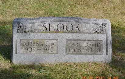 SHOOK, LORENA C.A. - Branch County, Michigan | LORENA C.A. SHOOK - Michigan Gravestone Photos