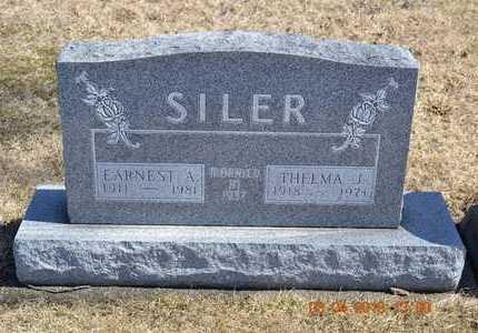 SILER, THELMA J. - Branch County, Michigan | THELMA J. SILER - Michigan Gravestone Photos
