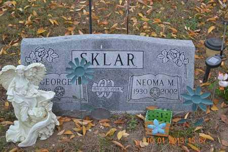 SKLAR, GEORGE - Branch County, Michigan | GEORGE SKLAR - Michigan Gravestone Photos