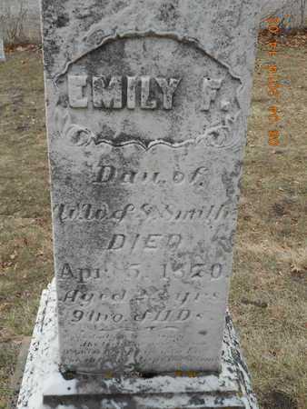 SMITH, EMILY F. - Branch County, Michigan   EMILY F. SMITH - Michigan Gravestone Photos