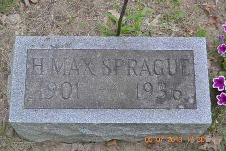 SPRAGUE, H. MAX - Branch County, Michigan   H. MAX SPRAGUE - Michigan Gravestone Photos