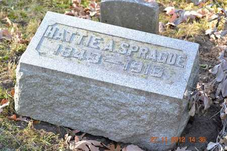 SPRAGUE, HATTIE A. - Branch County, Michigan | HATTIE A. SPRAGUE - Michigan Gravestone Photos