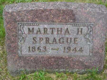 SPRAGUE, MARTHA H. - Branch County, Michigan   MARTHA H. SPRAGUE - Michigan Gravestone Photos