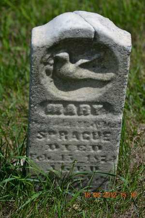 SPRAGUE, MARY - Branch County, Michigan | MARY SPRAGUE - Michigan Gravestone Photos