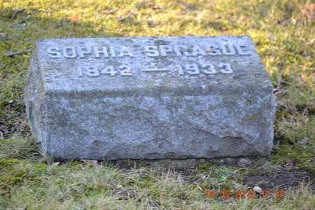 SPRAGUE, SOPHIA - Branch County, Michigan | SOPHIA SPRAGUE - Michigan Gravestone Photos