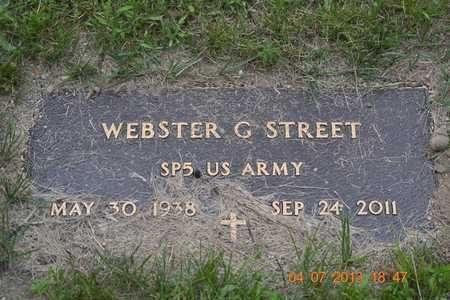 STREET, WEBSTER G. - Branch County, Michigan   WEBSTER G. STREET - Michigan Gravestone Photos