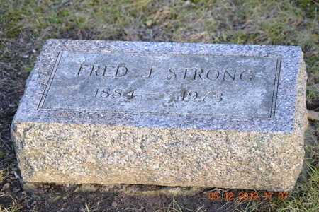 STRONG, FRED J. - Branch County, Michigan | FRED J. STRONG - Michigan Gravestone Photos
