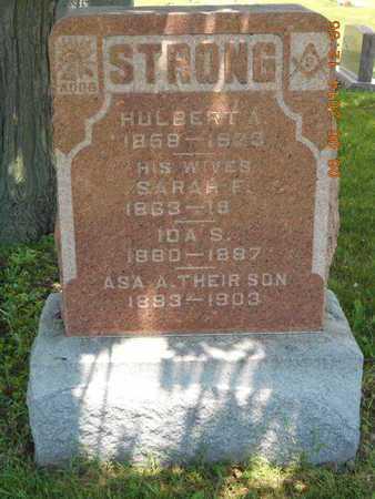 STRONG, HULBERT A. - Branch County, Michigan   HULBERT A. STRONG - Michigan Gravestone Photos