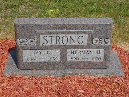 STRONG, IVY L. - Branch County, Michigan | IVY L. STRONG - Michigan Gravestone Photos