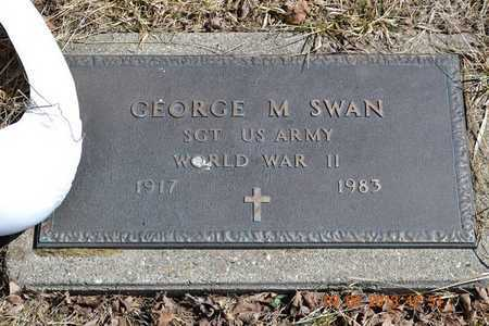SWAN, GEORGE M. - Branch County, Michigan | GEORGE M. SWAN - Michigan Gravestone Photos