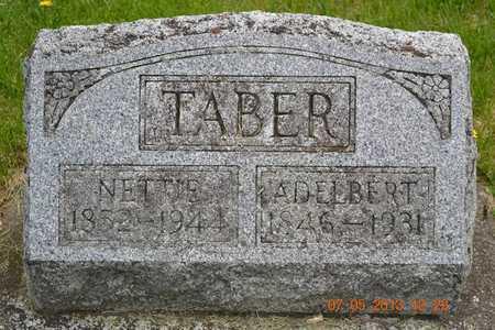 TABER, ADELBERT - Branch County, Michigan | ADELBERT TABER - Michigan Gravestone Photos