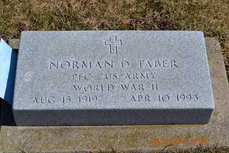 TABER, NORMAN DUANE - Branch County, Michigan | NORMAN DUANE TABER - Michigan Gravestone Photos
