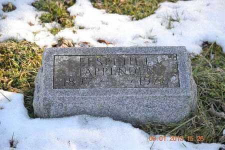 TAPPENDEN, ELSPETH E. - Branch County, Michigan | ELSPETH E. TAPPENDEN - Michigan Gravestone Photos