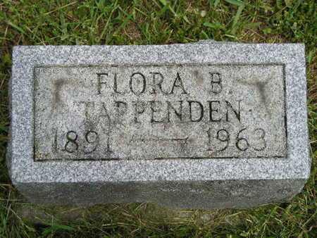TAPPENDEN, FLORA B. - Branch County, Michigan   FLORA B. TAPPENDEN - Michigan Gravestone Photos