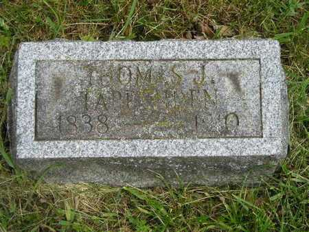 TAPPENDEN, THOMAS J. - Branch County, Michigan | THOMAS J. TAPPENDEN - Michigan Gravestone Photos