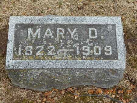 TELLER, MARY D. - Branch County, Michigan | MARY D. TELLER - Michigan Gravestone Photos