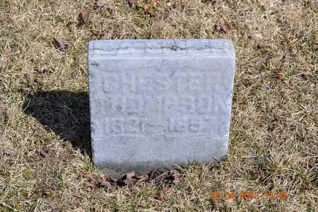 THOMPSON, CHESTER - Branch County, Michigan | CHESTER THOMPSON - Michigan Gravestone Photos