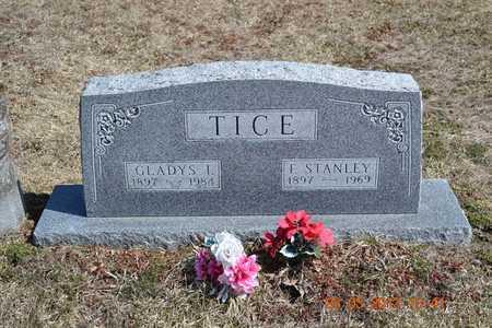 TICE, GLADYS I. - Branch County, Michigan | GLADYS I. TICE - Michigan Gravestone Photos