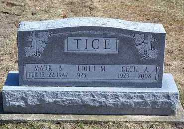 TICE, MARK BURTON - Branch County, Michigan | MARK BURTON TICE - Michigan Gravestone Photos