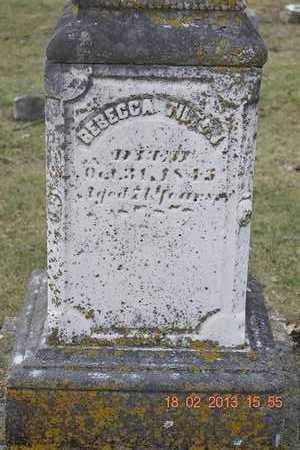 TILTON, REBECCA - Branch County, Michigan | REBECCA TILTON - Michigan Gravestone Photos