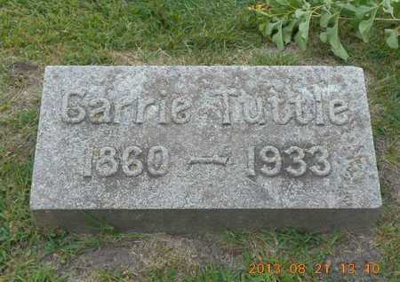 TUTTLE, CARRIE - Branch County, Michigan | CARRIE TUTTLE - Michigan Gravestone Photos