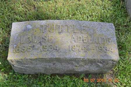 TUTTLE, ADELAIDE - Branch County, Michigan | ADELAIDE TUTTLE - Michigan Gravestone Photos