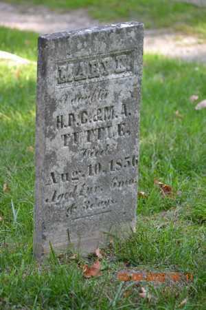 TUTTLE, MARY K. - Branch County, Michigan | MARY K. TUTTLE - Michigan Gravestone Photos