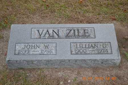 VAN ZILE, JOHN W. - Branch County, Michigan | JOHN W. VAN ZILE - Michigan Gravestone Photos
