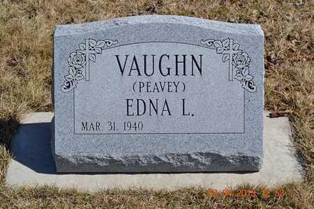 PEAVEY VAUGH, EDNA L. - Branch County, Michigan   EDNA L. PEAVEY VAUGH - Michigan Gravestone Photos