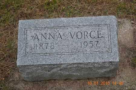 GEIGER VORCE, ANNA - Branch County, Michigan   ANNA GEIGER VORCE - Michigan Gravestone Photos