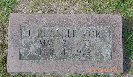 VORE, J. RUSSELL - Branch County, Michigan | J. RUSSELL VORE - Michigan Gravestone Photos