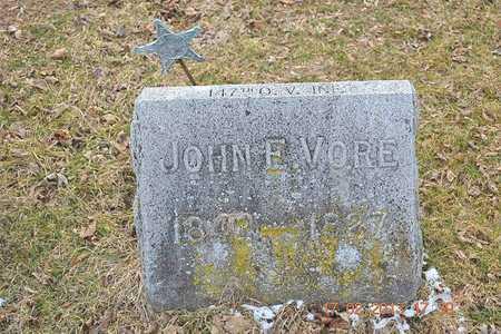 VORE, JOHN E. - Branch County, Michigan | JOHN E. VORE - Michigan Gravestone Photos