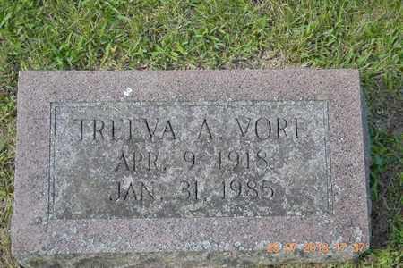 VORE, TREEVA A. - Branch County, Michigan   TREEVA A. VORE - Michigan Gravestone Photos