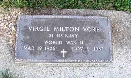 VORE, VIRGIL - Branch County, Michigan   VIRGIL VORE - Michigan Gravestone Photos