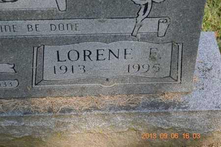 WARD, LORENE E. - Branch County, Michigan | LORENE E. WARD - Michigan Gravestone Photos