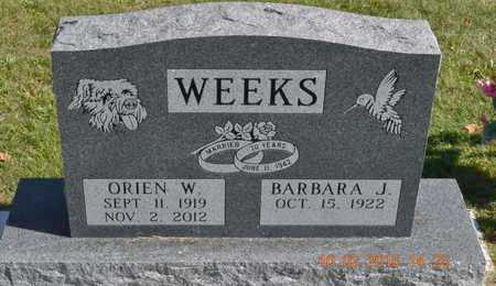 WEEKS, ORIEN W. - Branch County, Michigan | ORIEN W. WEEKS - Michigan Gravestone Photos
