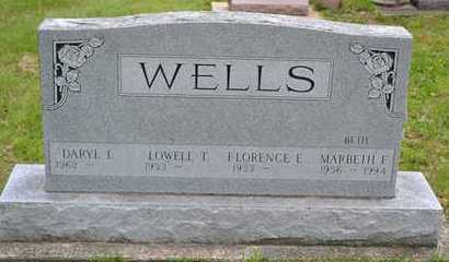 WELLS, FLORENCE E. - Branch County, Michigan | FLORENCE E. WELLS - Michigan Gravestone Photos