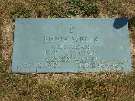 WELLS, EDDIE - Branch County, Michigan | EDDIE WELLS - Michigan Gravestone Photos