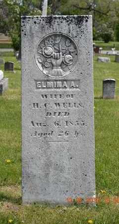 WELLS, ELMINA A. - Branch County, Michigan | ELMINA A. WELLS - Michigan Gravestone Photos