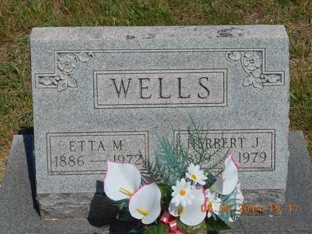 WELLS, ETTA M. - Branch County, Michigan | ETTA M. WELLS - Michigan Gravestone Photos