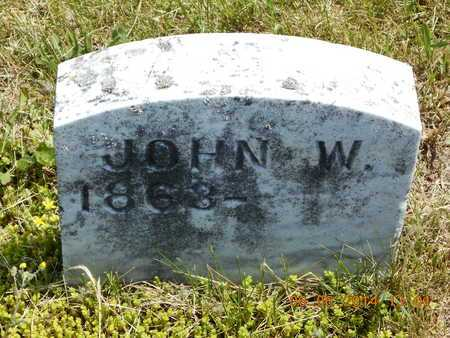 WELLS, JOHN W. - Branch County, Michigan | JOHN W. WELLS - Michigan Gravestone Photos
