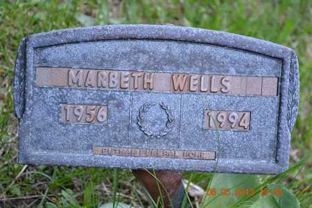 WELLS, MARBETH(CLOSEUP) - Branch County, Michigan | MARBETH(CLOSEUP) WELLS - Michigan Gravestone Photos