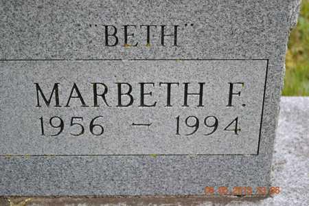 WELLS, MARBETH(2ND CLOSEUP) - Branch County, Michigan | MARBETH(2ND CLOSEUP) WELLS - Michigan Gravestone Photos